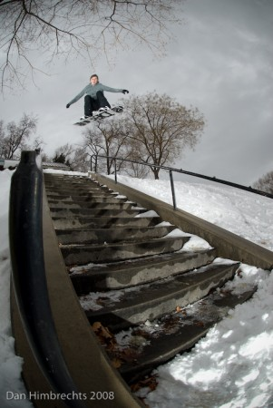 Stair set ollie, SLC, Utah, 2008