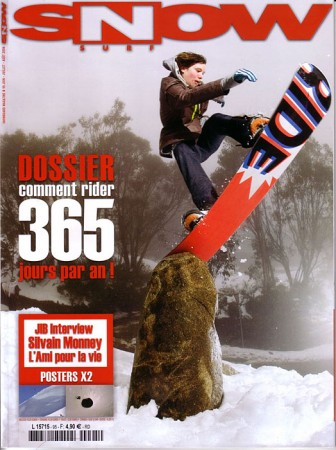 Cover of Snowsurf magazine, France. 2005