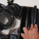 The zip-lock rolls several times into a double velcro closure system