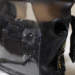 Close up of the finger sleeve to operate the shutter release