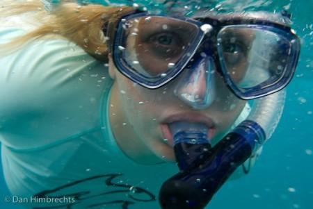 Clare snorkelling, Natadola bay, Fiji